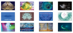 Affirmations-Karten Set Blau